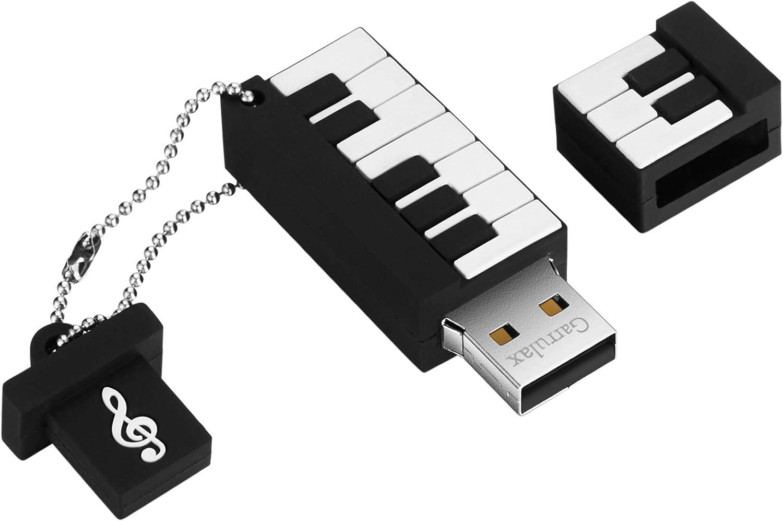 GARRULAX USB Flash Drive, 8GB / 16GB / 32GB USB2.0 Cute Shape USB Memory Stick Date Storage Pendrive Thumb Drives (32GB, Piano)
