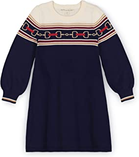 Hope & Henry Girls' Fairisle Fit and Flare Sweater Dress