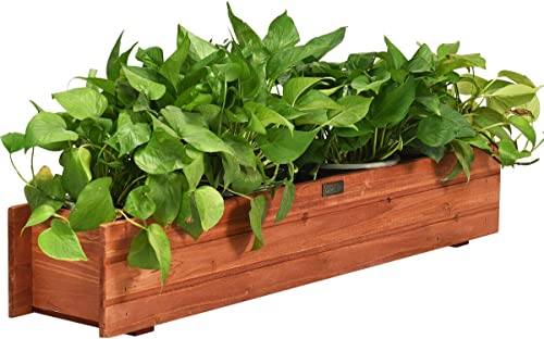 """Giantex Raised Garden Bed Flower or Vegetable Planter Window Mounted Plant Box for Garden, Yard Wood Box for Planting (36"""" LX7 WX6 H)"""