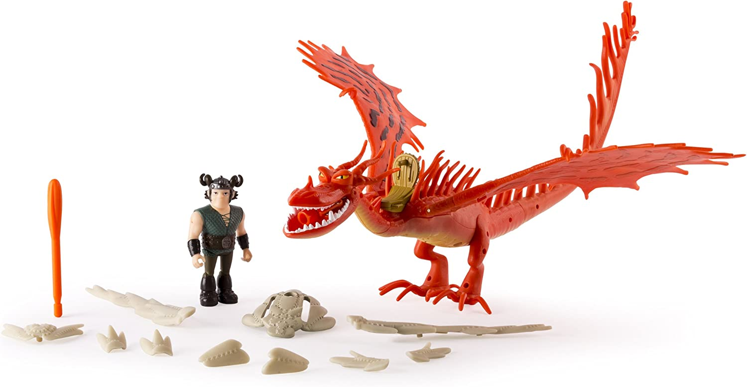 precio razonable DRAGONS Set 2 2 2 Figuras HOOKFANG y Snotlout ARMorojo Parlande RACE TO THE EDGE 20073818  barato