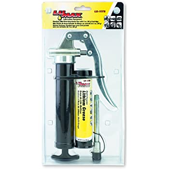 Lumax LX-1172 Black Mini-Pistol Grip Grease Gun with 3 oz. Cartridge. Compact and Lightweight Grease Gun. The Pistol Grip Makes it Easy for One-Hand Operation.