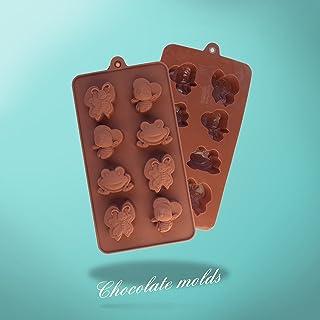 Clest F & H DIY 8 agujeros mariposas ranas abejas forma silicona Chocolate moldes de hielo