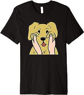 Golden Retriever Chubby Cheeks Funny Dog Gift  Premium T-Shirt