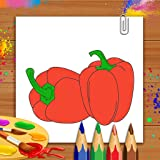 Livro de colorir de legumes & livro de desenho - jogo de crianças