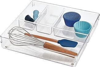 iDesign Plastic Linus Grand Drawer Organizer, Clear - ID56530ES