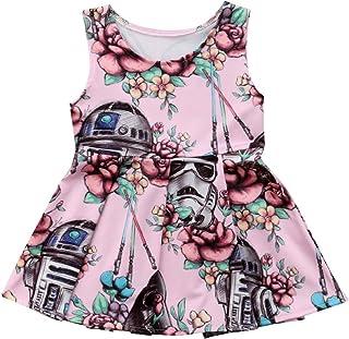 Baby Girl Dress Newborn Floral Ruffle Princess Tutu Dress Summer