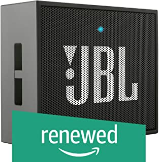 (Renewed) JBL GO Portable Wireless Bluetooth Speaker with Mic (Black)
