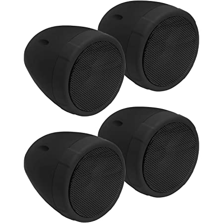 BOSS Audio Systems MCBK475BA Motorcycle Speaker Sound System - Bluetooth, Amplified, Weatherproof, 3 Inch Speakers, Volume Control, Also Use with ATVs and UTVs