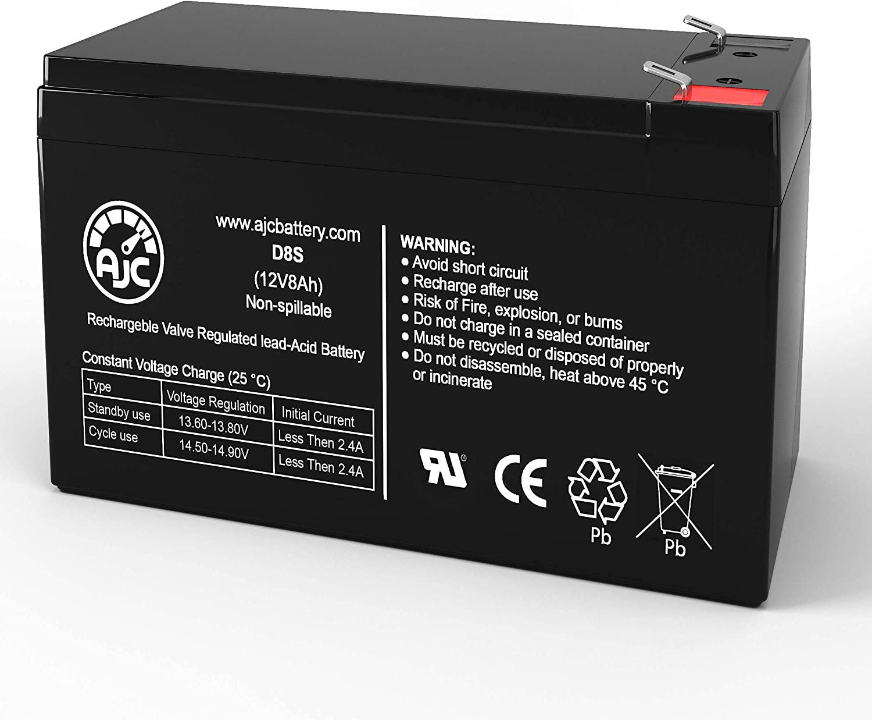 AJC Battery Compatible with APC Back-UPS CS 500 12V 8Ah UPS Battery