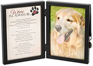 Where I'll Always Be Dog Memorial Photo Frame - Thoughtful Pet Memorial Gift