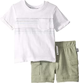 Racing Stripe Pocket Tee Set (Infant)