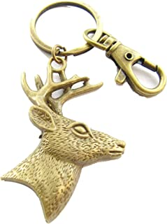 Antler Keychain,Unisex Antler Keyring,Elk Deer Key Ring,Woodland Antler Jewelry,Wild West Key Fob,Antler Purse Charm
