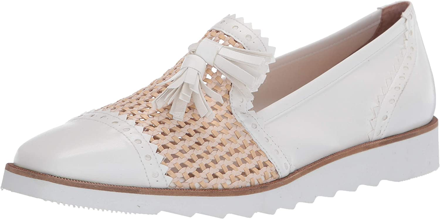 French Sole FS NY Women's Smoking Loafer Bombing Max 82% OFF new work Woven Flat Slipper