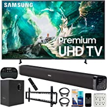 $1997 » Samsung UN82RU8000 82-inch RU8000 LED Smart 4K UHD TV (2019) Bundle with Deco Gear Soundbar with Subwoofer, Wall Mount Kit, Deco Gear Wireless Keyboard, Cleaning Kit and 6-Outlet Surge Adapter