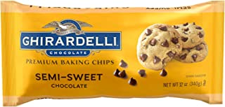 Ghirardelli Chocolate Baking Chips, Semi-Sweet Chocolate, 12 oz., 6 Count