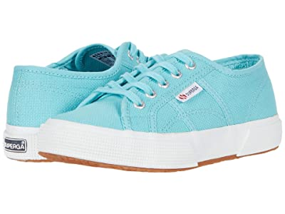 Superga Kids 2750 JCOT Classic (Toddler/Little Kid) (Blue Light Crystal) Kids Shoes