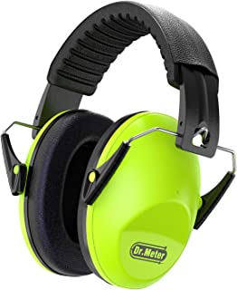 Dr.meter EM100 Kids Protective Earmuffs with Noise Blocking Children Ear muffs for Sleeping, Studying, Shooting, Babies 27NRR Adjustable Head Band, Green