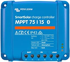 Victron SmartSolar Charge Controller with Built-In Bluetooth – MPPT 75/15 – 75 Volts, 15 Amps