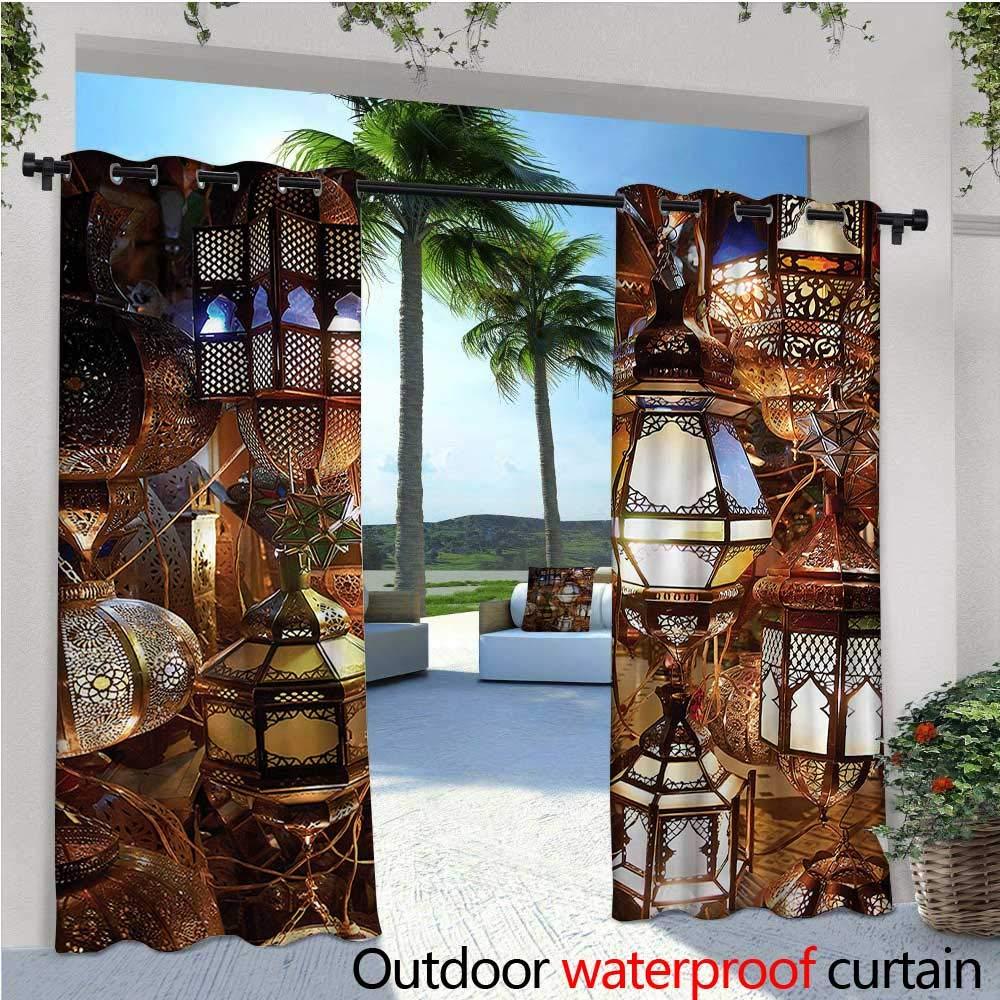 warmfamily - Cortinas de jardín de Estilo marroquí étnico con diseño de Mosaico Floral para Exteriores, Cortinas para Patio al Aire Libre: Amazon.es: Jardín