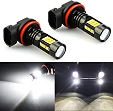 JDM ASTAR 2400 Lumens Extremely Bright PX Chipets H11 H8 LED Fog Light Bulbs for DRL or Fog Lights, Xenon White (H11, White)