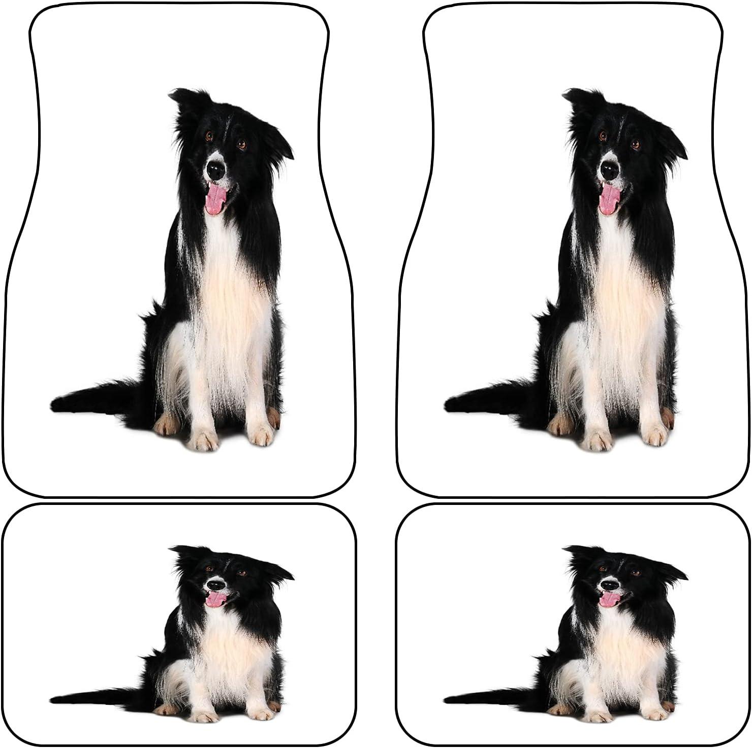 New mail order New item VINISATH Front Rear Car Mats Set Purebred of Dog 4 Portrait