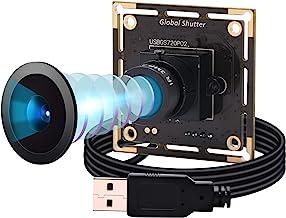 Global Shutter USB Camera Module,1MP 60FPS Monochrome USB Webcam Mini Camera Module,Tiny USB Cameras High Speed OTG UVC Li...