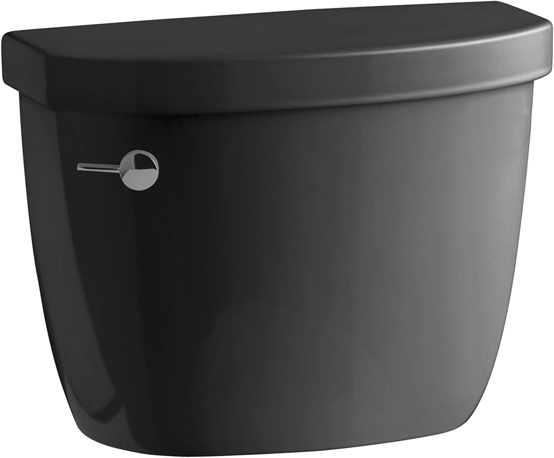 KOHLER K-4418-7 Max 62% Limited Special Price OFF Cimarron 1.6 gpf Class Black Toilet Tank Five B