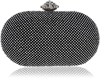 ZYWYB Evening Bags and Clutches for Women Crystal Rhinestone for Wedding Party Beaded Clutch Purse Pearl Handbag (Color : Silver)