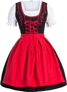 Bongossi-Trade Dirndl 3 TLG.Trachtenkleid Kleid, Bluse, Schürze, Gr. 34-52 schwarz blau, pink, grün und violett