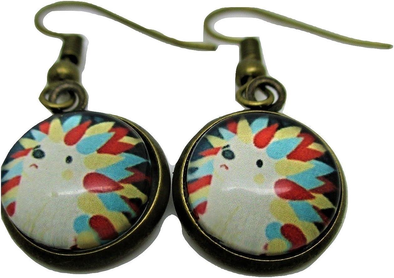 Hedgehog Dangle Hanging Earrings - New - Pair!