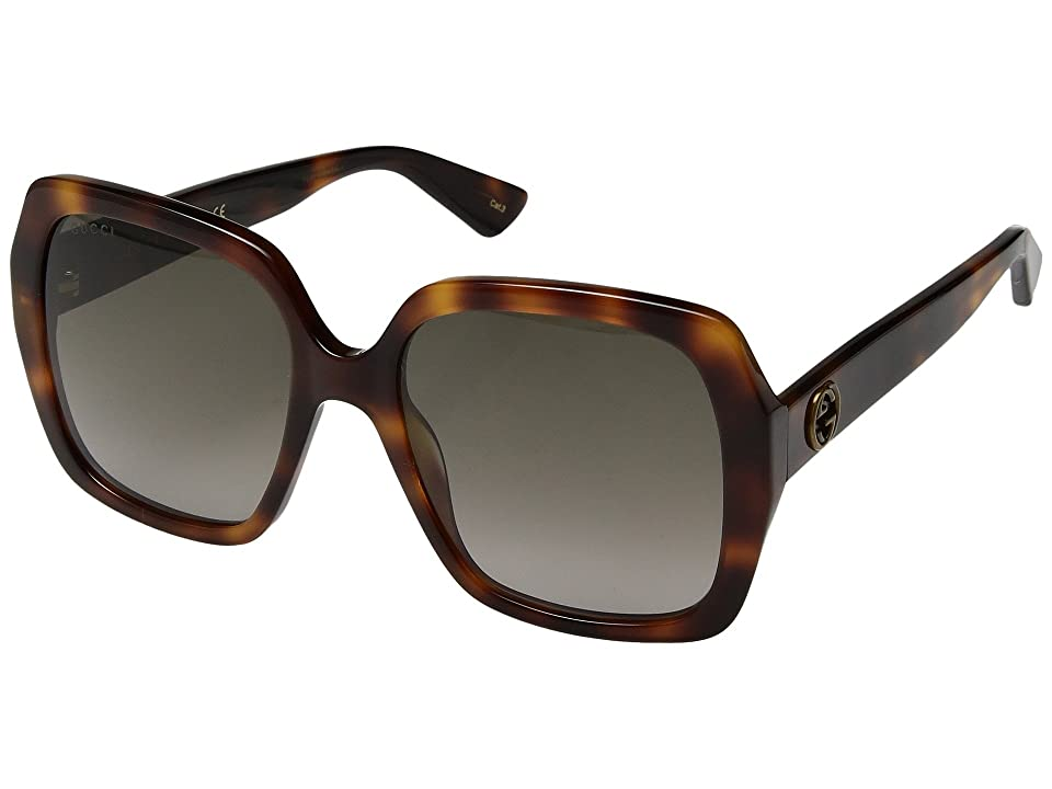 Gucci GG0096S (Havana/Brown Gradient) Fashion Sunglasses