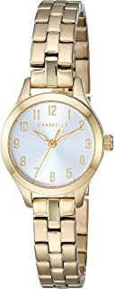 Caravelle Women's Gold-Tone Watch with Silver Dial - 44L248