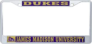 James Madison University JMU Dukes NCAA Metal License Plate Frame for Front Back of Car Officially Licensed (Mascot)