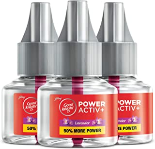 Good knight Power Activ+ Liquid Vapourizer Refill - Lavender Fragrance (Pack of 3), 45 ml Each