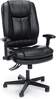 Essentials High Back Executive Chair - Leather Office Chair with Adjustable Arms, Black (-BLK)