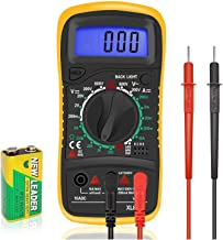 Digital Multimeter LCD Electrical Test Meter Volt Ammeter OHM AC DC Battery Circuit Multi Tester Checker Buzzer with Test ...