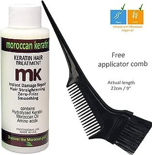 Moroccan Keratin Blowout for Brazilian Keratin Hair Treatment Proven Formula 120ml Keratin with Brush/Comb Best Value USA