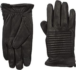 Men's 100% Leather Winter Gloves, Black, Large