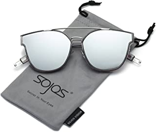 SOJOS Fashion Square Oversized Sunglasses for Women...