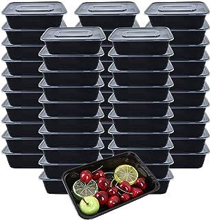 [Lot de 50] 750ml Meal Prep Containers Reutilisable 1 Compartiment Food Container Boite Alimentaire Lunch Box Fait de Plas...