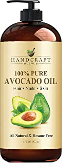 Handcraft Avocado Oil 16 fl. oz - 100% Pure and Natural - Hair Oil - Carrier Oil For Aromatherapy, Massage Oil, Body & Ski...