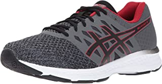 ASICS Mens Gel-Exalt 4 Running Shoe, Carbon/Black/Classic Red, 9 Medium US
