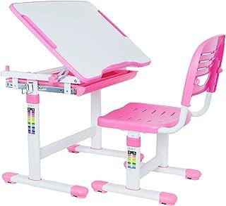 VIVO Pink Height Adjustable Children's Desk and Chair Set   Kids Interactive Workstation