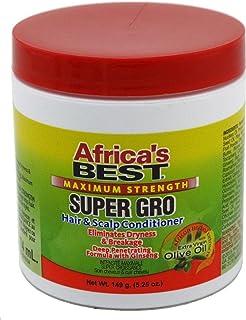بلسم الشعر وفروة الرأس سوبر جرو من أفريكاز بيست أقصى سترينغث، 5.25 أونصة (عبوة من 3 قطع)