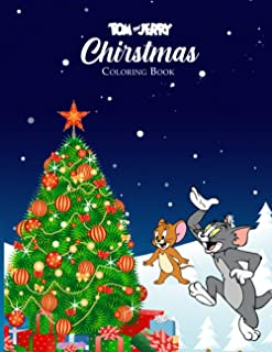 Tom and Jerry Christmas Coloring Book: Special Christmas Edition Coloring Book for Kids & All Fans With 50+ Coloring Pages