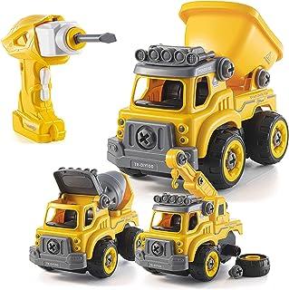 اسباب بازی های جداگانه با دریل برقی   تبدیل به ماشین کنترل از راه دور   3 در یک کامیون ساختمانی اسباب بازی برای پسران جدا کنید   اسباب بازی های هدیه برای پسران 3،4،5،6،7 ساله   اسباب بازی های بنیادی کودکان