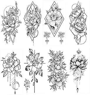 Oberarm tattoo frauen blumen