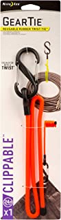 Clippable Gear Tie, Orange, 24 in. L