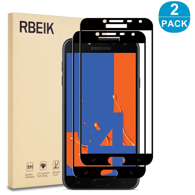 RBEIK Protector de Pantalla para Samsung Galaxy J4 2018 (2 Unidades, dureza 9H, sin Burbujas, Vidrio Templado, Protector de Pantalla para Smartphone Samsung Galaxy J4 2018 DE 5,5
