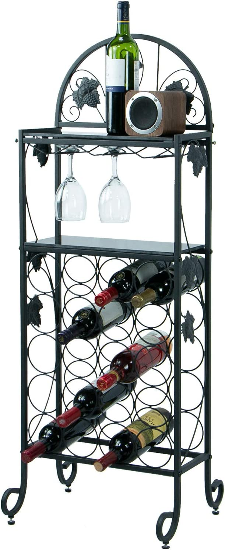 Petiture 20 Wine Rack 使い勝手の良い Table with Floor 引き出物 Freestanding Glass